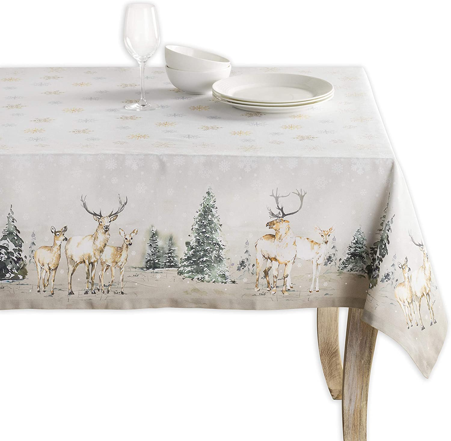 Maison d' Hermine Deer in The Super-cheap for K Cotton 100% free Tablecloth Woods