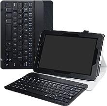 Verizon Ellipsis 10 Wireless Keyboard Case,LiuShan Detachable Wireless Keyboard Standing PU Leather Cover for 10
