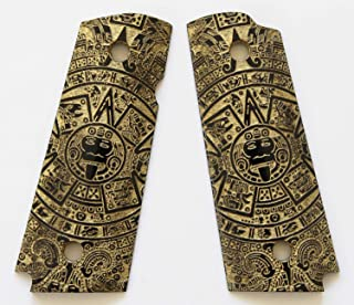 DURAGRIPS - Compact/Officers 1911 Custom Engrave Grips - Aztec Calendar