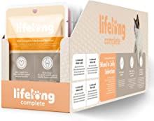 Marca Amazon - Lifelong Alimento completo para gatos adultos - Selección mixta en gelatina, 2,4 kg (24 bolsitas x 100g)