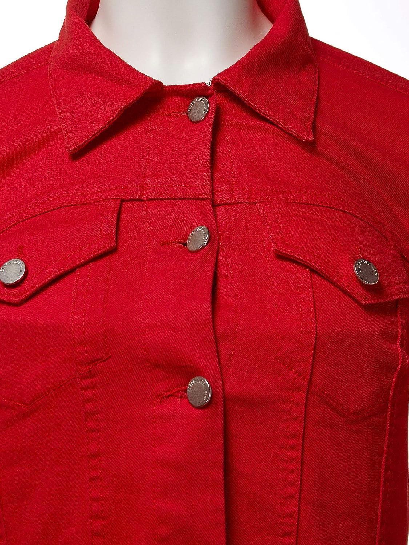 FashionMille Women Distress Crop Ripped Raw Cut Denim Jean Jacket