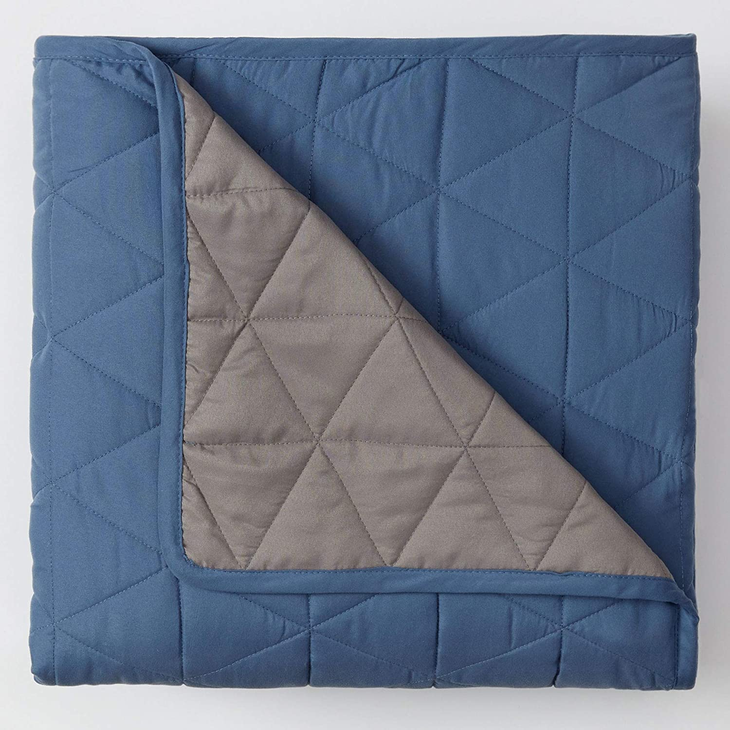 BrylaneHome Reversible Quilted Sham - SALENEW very popular Smoke King shop Blue Pack 2