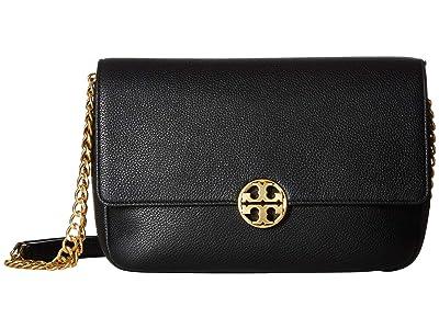 Tory Burch Chelsea Chain Shoulder Bag (Black) Handbags