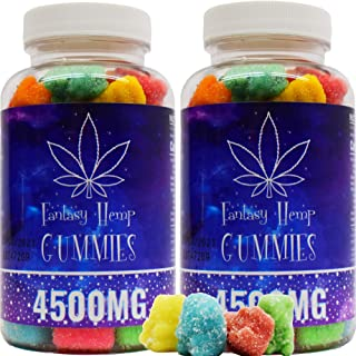 Fantasy Organic Hemp Gummies -2 Pack- 4500MG -75MG Per Gummy Bear with Premium Herbal Extract | Natural Candy Supplements ...