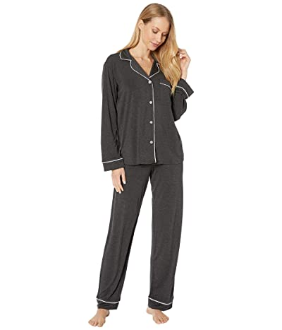 Eberjey Gisele Basics PJ Set (Charcoal Heather/Sorbet Pink) Women