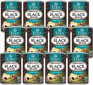 Eden Organic Black Beans, 15 oz Can (12-Pack Case) , No Salt, Non-GMO, U.S Grown, Heat and Serve, Macrobiotic, Turtle Bean...