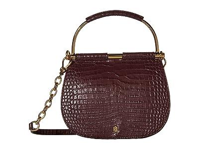 LAUREN Ralph Lauren Mason 20 Mini Satchel (Bordeaux) Handbags