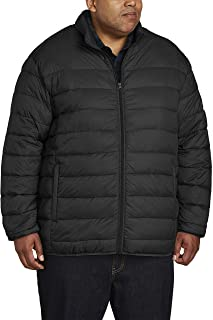 Amazon Essentials Men's Big & Tall Lightweight Water-Resistant Packable Puffer Jacket fit by DXL