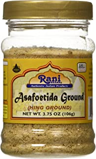 Rani Asafetida (Hing) Ground 3.75oz (106g) ~ All Natural | Salt Free | Vegan | NON-GMO | Asafoetida Indian Spice | Best for Onion Garlic Substitute