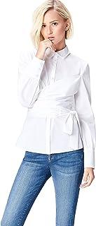 comprar comparacion Marca Amazon - find. Camisa con Cuerpo Cruzado para Mujer