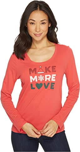 Life is Good - Make More Love Long Sleeve Sleep Tee