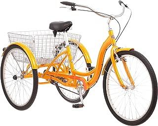 Adult Schwinn Tricycle Three (3) Wheeled Trike Men's Women's Bicycle Red Mint Green Blue Silver Grey Bike with Metal Wire Shopping Basket Beach Cruiser