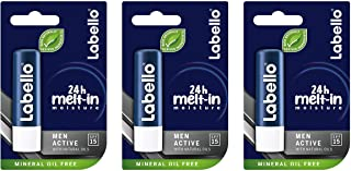 Labello Active Lip Care for Men 4.8g/5.5ml SPF 15-3 Pack