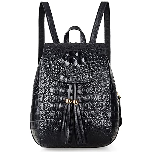 dfd1b2cb46 PIJUSHI Leather Backpack For Women Crocodile Bags Fashion Casual Backpack  Purses