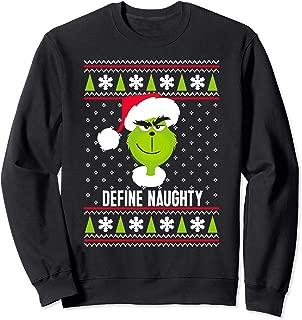 Dr.Seuss The Grinch Define Naughty Grinch Sweatshirt