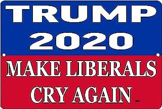 Rogue River Tactical Funny Donald Trump Blue Metal Tin Sign Wall Decor Man Cave Bar 2020 Presidential Election