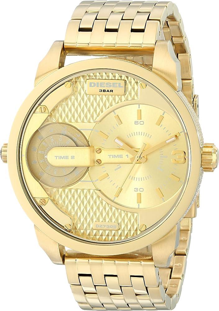Diesel orologio cronografo da uomo in acciaio inossidabile placcato oro DZ7306