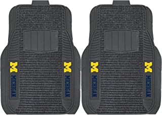 FANMATS NCAA University of Michigan Wolverines Nylon Face Deluxe Car Mat