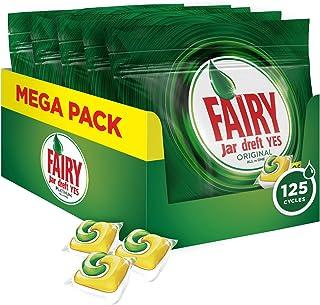 Fairy Original Limón - Pastillas para Lavavajillas Todo en 1 125 Cápsulas (5 x 25)