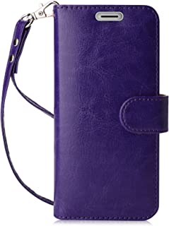 FYY Luxury PU Leather Wallet Case for Samsung Galaxy S8 Plus, [Kickstand Feature] Flip Folio Case Cover with [Card Slots] and [Note Pockets] for Samsung Galaxy S8 Plus Purple