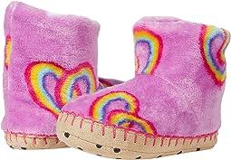 Twisty Rainbow Hearts Fleece Slippers (Toddler/Little Kid)