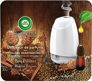 Air Wick Diffuseur d'Huiles Essentielles Essential Mist Edition Limitée + 1 Recharge Bois Précieux 20 ml