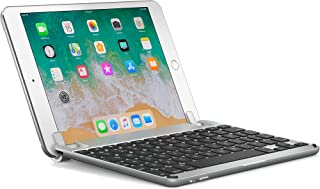 Brydge 7.9 Keyboard for iPad Mini (2019) and iPad Mini 4. Backlit, Aluminum, Bluetooth, Rotating Hinges, 180 Degree Viewing. (Silver)