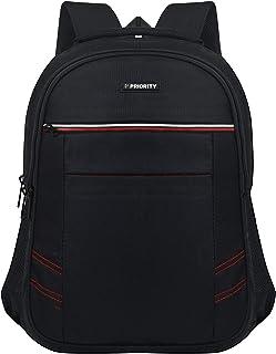 Priority Hotstar 26 40 litres Black Polyester College Bag   Laptop Backpack for Boys & Girls (24166)