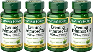 Nature's Bounty Nature's Bounty Evening Primrose Oil, 1000mg, 240 Softgels (4 X 60 Count Bottles),, 60 Count ()
