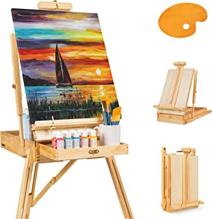 Best Choice Products Portable Wooden Folding French Easel Adjustable Sketch Box Artist Tripod for Painting, Drawing, Sketc...