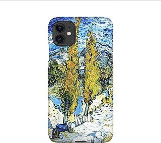 pioppo van Gogh cover per iPhone 12mini, 12, 12 pro, 12 pro max, 11, 11 pro, 11 pro max, XS, X, X max, XR, SE, 7+, 8, 7, 6...