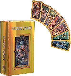 タロットカード ライダーウェイトタロットデッキの英語版 ホログラフィック78カードデッキセット 鮮やかな画像 未知のタロットデッキインタラクティブボードゲーム フラッシュ効果付き 家族向け パーティー 友達