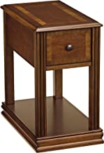 Ashley Furniture Signature Design - Breegin Contemporary Chair Side End Table - Rectangular - Brown Finish