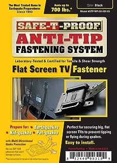 Safe-T-Proof Anti-Tip Fastening System Flat Screen TV Fastener, Black