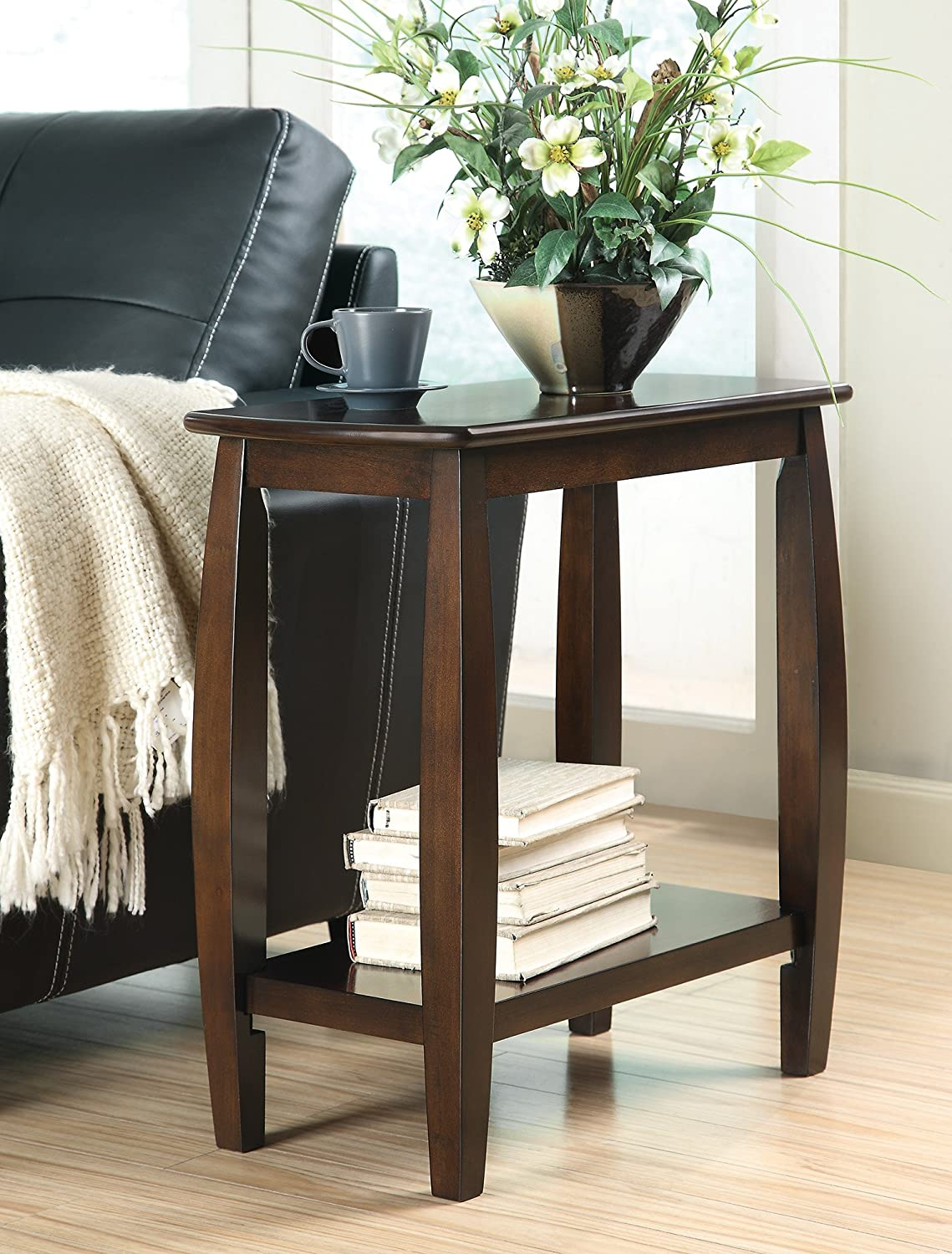 Benzara BM160096 End Table, One, Brown