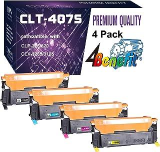 Best 4-Pack(1 Black+1 Cyan+1 Magenta+1 Yellow) Compatible CLT-407S CLT-K407S C407S M407S Y407S Toner Cartridge Used for Samsung CLX-3185FW 3185N CLP-320N CLP-321N CLP-325W Printer, by 4Benefit Review
