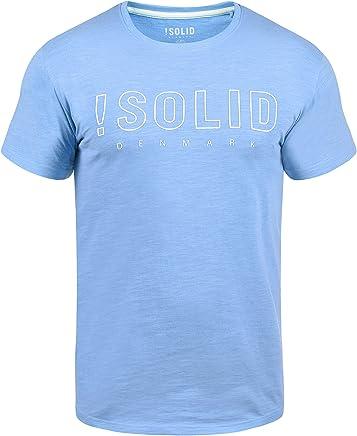 !Solid Solido T-Shirt À Manches Courtes Chemise Imprimé pour Homme avec Encolure Rond avec Imprimé