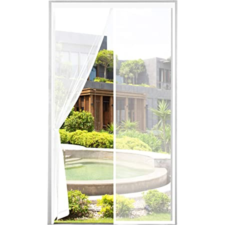 70 * 200cm MYCARBON Mosquitera Puerta Magnetica Corredera Cortina Mosquitera Magn/ética para Puertas Cortina de Sala de Estar la Puerta del Balc/ón Puerta Corredera de Patio