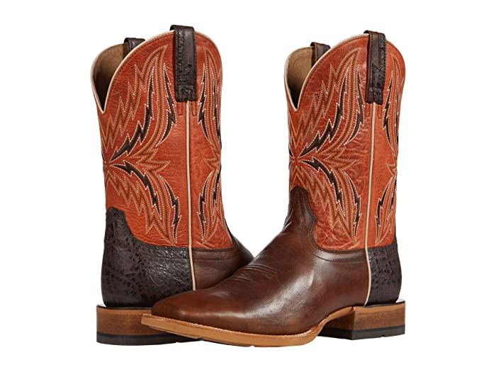 Ariat  Arena Rebound (Chocolate/Rave Orange) Cowboy Boots