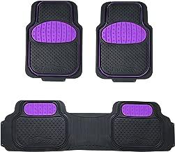FH Group F11500 Touchdown Floor mats Full Set Rubber Floor Mats, Purple/Black Color- Fit Most Car, Truck, SUV, or Van