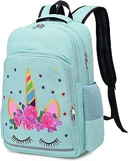 حقيبة ظهر مدرسية للبنات لطيف الأطفال يونيكورن حقيبة مدرسية حقيبة سفر عادية