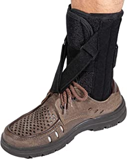 Foot Up Drop Foot Brace - Orthosis with Adjustable Straps and 4 Support Strips for Improved Walking Gait When Wearing Shoes, Ankle Stability Support, Fits Left or Right Foot for Women and Men