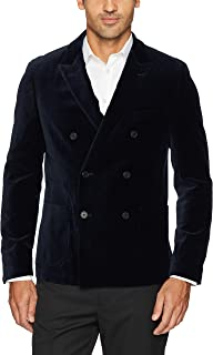 Men's Stretch Velveteen Double Breasted Blazer