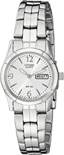 Women's Quartz Silver-Tone Watch with Day/Date display, EQ0540-57A