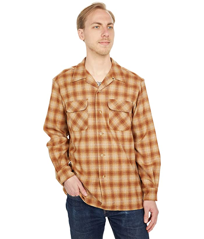 1940s Men's Shirts, Sweaters, Vests Pendleton Board Shirt Classic Fit Mens Short Sleeve Button Up $149.00 AT vintagedancer.com