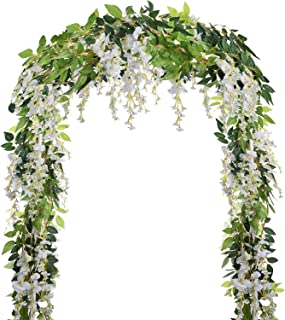 Sensible Silk Flower Rattan Strip Wisteria Flower Vine Diy Craft Fake Flowers Plants For Wedding Decoration Home Garden Party Kids Room Festive & Party Supplies Artificial Plants