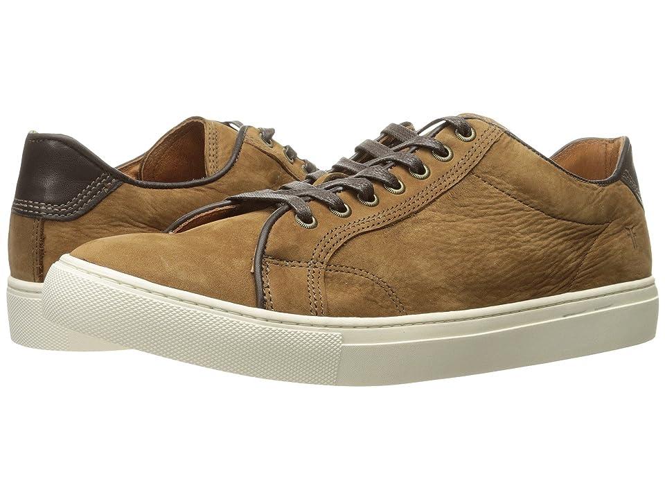 Frye Walker Low Lace (Tobacco Soft Italian Nubuck) Men's Lace up casual Shoes