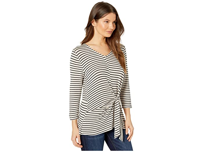 Tribal 3/4 Sleeve Knotted Top- Ropa De Mujer