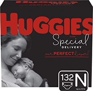 Huggies Special Delivery Hypoallergenic Diapers, Size Newborn (up to 10 lb.), 132 Ct, One Month Supply