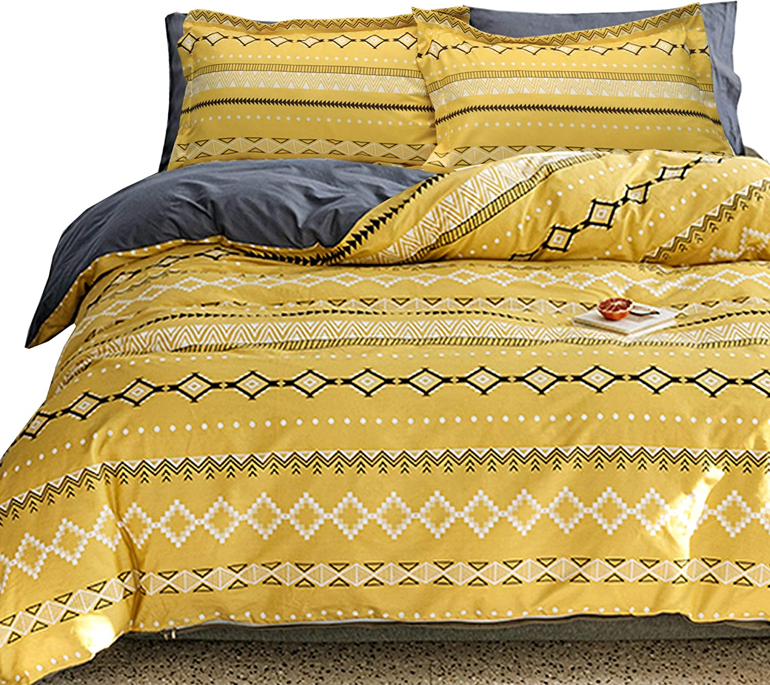 Essina Microfiber King Weekly update Duvet Cover 3pc Set Arcadia Collection S security